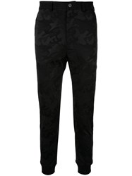 Loveless Camouflage Print Fitted Trousers Black