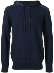 Canada Goose Shell Panelled Hoodie Blue