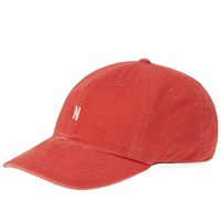 Norse Projects Light Twill Sports Cap Red
