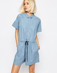 Dr. Denim Dr Denim Phoebe Denim Romper Blue
