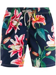 Mc2 Saint Barth Floral Print Swim Shorts Black
