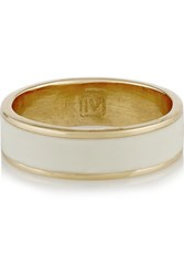 Inez And Vinoodh Enameled 18 Karat Gold Ring Ivory