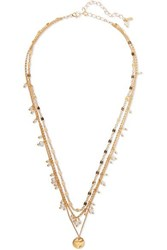Chan Luu Layered Gold Plated Pearl Necklace
