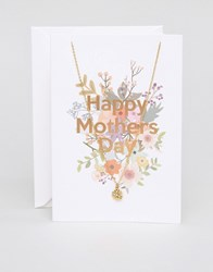 Orelia Happy Mothers Day Necklace Gift Card Gold