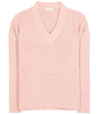 See By Chloe Cotton Blend Sweater Pink
