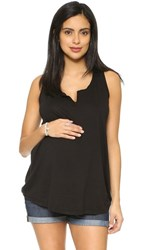 Splendid Maternity Fit Racer Back Tank Black