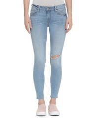 Vigoss Destructed High Rise Skinny Jeans Light Wash