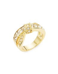 Michela Criss Cross Pave Ring Gold