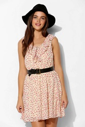 Pins And Needles Pins And Needles Ruffle Tie Front Tank Dress Neutral Multi