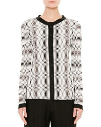 Missoni Stereo Knit Button Front Cardigan Black White Brown Size 40 It 4 Us