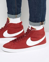 Nike Blazer Retro Trainers In Red 429988 603 Red