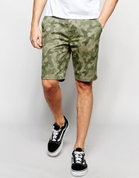 Threadbare Camo Print Shorts Green