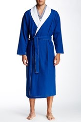 Majestic Long Sleeve Terry Lined Robe Blue