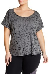 The Balance Collection Kimmy Burnout Tee Plus Size Black