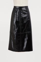 Givenchy Leather Pencil Skirt Black