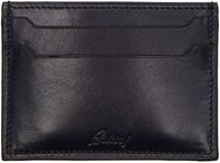 Brioni Navy Leather Card Holder