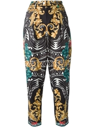 Versace Baroque Cropped Trousers Multicolour