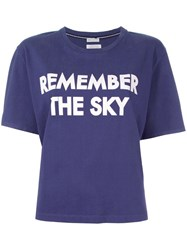 Each X Other 'Remember The Sky' T Shirt Blue