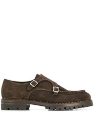 Eleventy Monk Shoes Brown