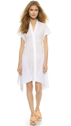 3.1 Phillip Lim Kimono Wrap Shirt Dress White