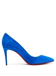 Christian Louboutin Pigalle 85 Suede Pumps Blue