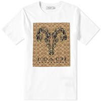Coach Signature Tattoo Tee White