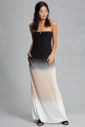 Forever 21 Boho Me Tie Dye Maxi Dress Black Tan