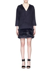 J.Crew Collection Mohair V Neck Sweater Dress