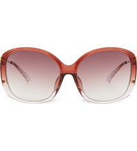 Prabal Gurung Pg23 Dual Tone Oversized Sunglasses Maroon And Yellow Gold