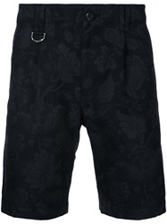 Roar Floral Print Shorts Men Cotton Polyester Iv Black