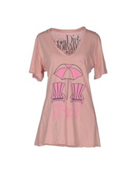 Dirtee Hollywood Short Sleeve T Shirts Pink