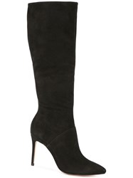 Schutz Pointed Toe Boots Black