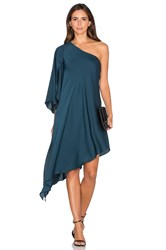 Milly Tori One Shoulder Dress Teal