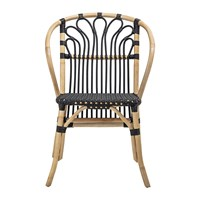 Bloomingville Rattan And Wood Chair Black