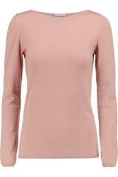 Brunello Cucinelli Metallic Cashmere Blend Top Pink