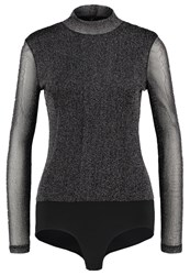 Only Onlpiper Long Sleeved Top Black