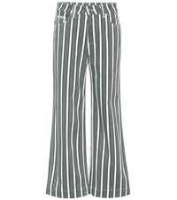 Alexachung Striped Cropped Jeans Green