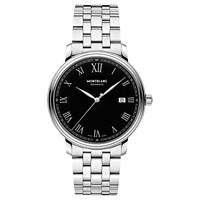 Montblanc 116483 Men's Tradition Date Automatic Bracelet Strap Watch Silver