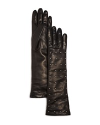 Bloomingdale's Studded Long Gloves Black
