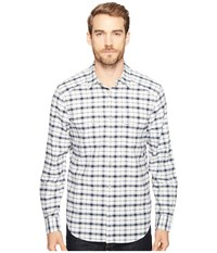 Lucky Brand Martin Western Shirt Natural Blue Plaid Men's Clothing Multi