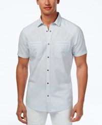 Inc International Concepts Men's Dual Pocket Snap Front Shirt Only At Macy's Cool Dusk
