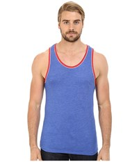 Alternative Apparel Double Ringer Tank Eco Pacific Blue Eco True Red Men's Sleeveless