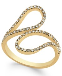 Inc International Concepts Gold Tone Pave Crystal Bypass Ring Only At Macy's