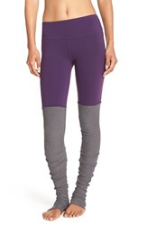 Alo Yoga Women's Alo 'Goddess' Ribbed Leggings Purple Pennant Stormy Heather