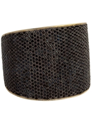 Tom Binns Bejewelled Statement Cuff Black