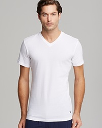 Polo Ralph Lauren Slim Fit V Neck Tee Pack Of 3 White