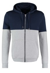 Your Turn Tracksuit Top Mottled Grey Dark Blue