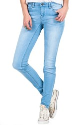 Junior Women's Volcom Stretch Denim Skinny Jeans Blue Light