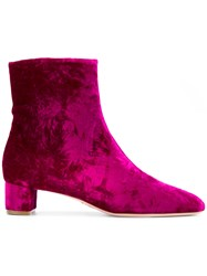 Oscar Tiye Emme Ankle Boots Pink And Purple
