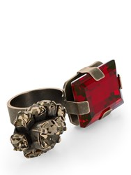 Marni Double Stone Ring Red
